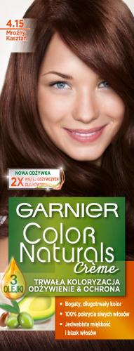 GARNIER - COLOR NATURALS Creme - Trwała, odżywcza koloryzacja do włosów - 4.15 Mroźny Kasztan