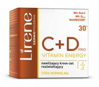 Lirene - C + D PRO VITAMIN ENERGY - Nawilżająco-rozświetlający krem-żel do twarzy - Cera normalna - 50 ml