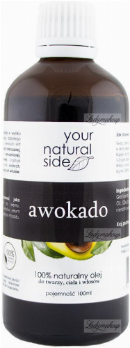 Your Natural Side - 100% naturalny olej awokado - 100 ml