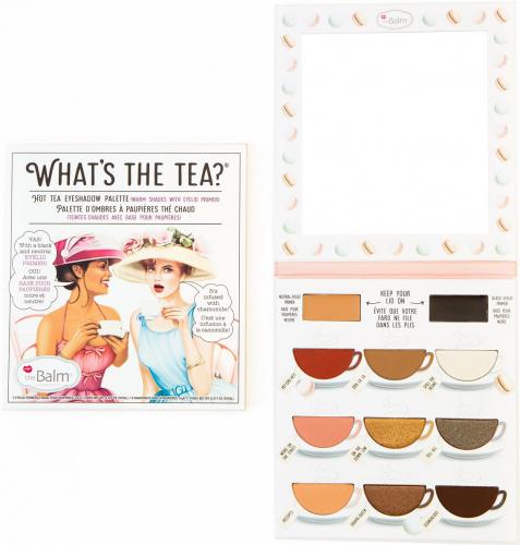 THE BALM - WHAT'S THE TEA? - Eyeshadow palette - Paleta 9 cieni do powiek - HOT TEA