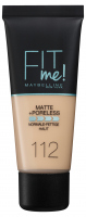 MAYBELLINE - FIT ME! Liquid Foundation For Normal To Oily Skin - 112 SOFT BEIGE - 112 SOFT BEIGE