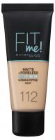 MAYBELLINE - FIT ME! Liquid Foundation For Normal To Oily Skin - Podkład matujący do twarzy - 112 SOFT BEIGE - 112 SOFT BEIGE