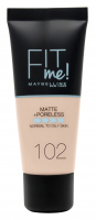 MAYBELLINE - FIT ME! Liquid Foundation For Normal To Oily Skin - 102 FAIR IVORY - 102 FAIR IVORY