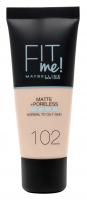 MAYBELLINE - FIT ME! Liquid Foundation For Normal To Oily Skin - Podkład matujący do twarzy - 102 FAIR IVORY - 102 FAIR IVORY