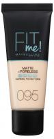MAYBELLINE - FIT ME! Liquid Foundation For Normal To Oily Skin - 95 FAIR PORCELAIN - 95 FAIR PORCELAIN
