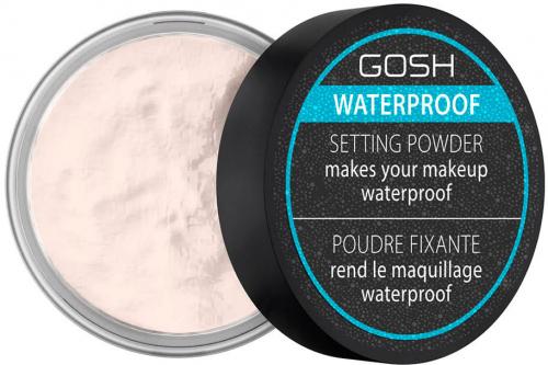 GOSH - Waterproof Setting Powder - Wodoodporny puder utrwalający do makijażu - 001 Transparentny - 7 g