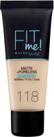 MAYBELLINE - FIT ME! Liquid Foundation For Normal To Oily Skin - Podkład matujący do twarzy - 118 NUDE - 118 NUDE