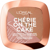L'Oréal - CHERIE ON THE CAKE - Róż i bronzer 2w1 - 01 Cherry Fever
