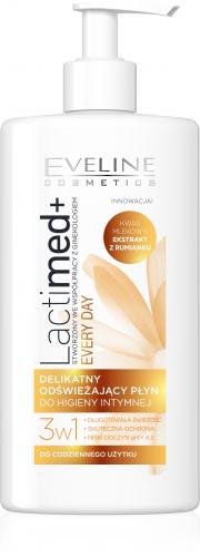 EVELINE - LactiMed + EVERY DAY - Delikatny, odświeżający płyn do higieny intymnej - 250 ml