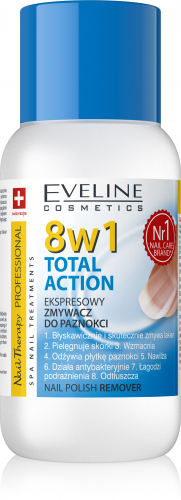 EVELINE - NAIL THERAPY PROFESSIONAL - TOTAL ACTION NAIL POLISH - Ekspresowy zmywacz do paznokci 8w1 - 150 ml