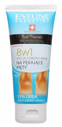 EVELINE - Foot Therapy Professional - Krem na pękające pięty 8w1 z mocznikiem - 100 ml