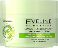 EVELINE - Moisturizing anti-wrinkle face cream with hyaluronic acid and green olive - 50 ml