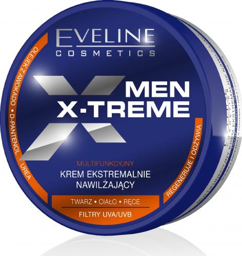 EVELINE - MEN X-TREME - Silnie nawilżający krem do twarzy, ciała i rąk dla mężczyzn - 200 ml