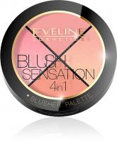 Eveline Cosmetics - BLUSH SENSATION 4IN1 - BLUSHER PALETTE - Paleta 4 róży do twarzy