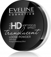 Eveline Cosmetics - FULL HD LOOSE POWDER - TRANSCULENT - Puder do twarzy z jedwabiem - Transparentny
