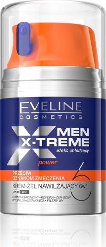 Eveline Cosmetics - MEN X-TREME POWER - Nawilżający krem-żel przeciw oznakom zmęczenia dla mężczyzn - 50 ml