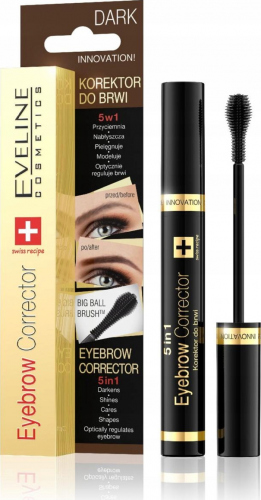 Eveline Cosmetics - EYEBROW CORRECTOR - Korektor do brwi 5w1 - DARK