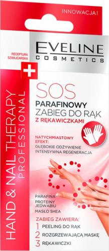 Eveline Cosmetics - HAND & NAIL THERAPY PROFESSIONAL - Parafinowy zabieg do rąk SOS z rękawiczkami