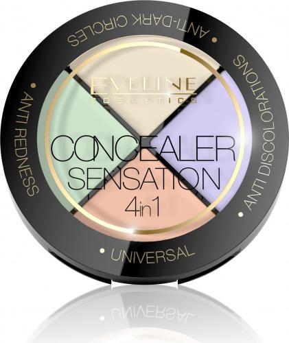 Eveline Cosmetics - CONCEALER SENSATION 4in1 - Zestaw 4 specjalistycznych korektorów do twarzy