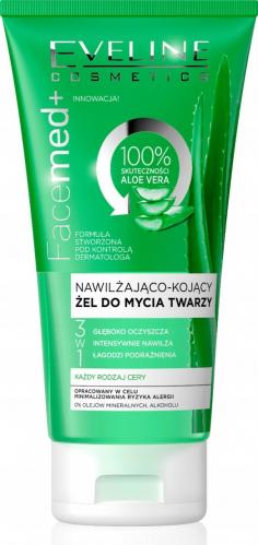 EVELINE - FaceMed + Nawilżająco-kojący żel do mycia twarzy z aloesem