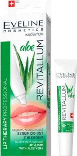 EVELINE - LIP PROFESSIONAL REVITALLUM ALOE LIP SERUM - Głęboko nawilżające serum do ust z aloesem - 8 ml