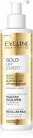 EVELINE - GOLD LIFT EXPERT MICELLAR MILK - Luksusowe odżywcze mleczko micelarne do demakijażu twarzy i oczu - 200 ml