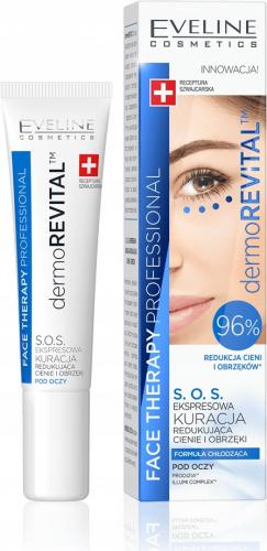 EVELINE - FACE THERAPY PROFESSIONAL SOS - Ekspresowa kuracja pod oczy redukująca cienie i obrzęki - 15 ml