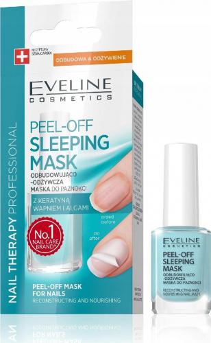 EVELINE - NAIL THERAPY PROFESSIONAL - PEEL OFF SLEEPING MASK - Odbudowująco-odżywcza maska do paznokci Peel Off