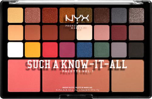 NYX Professional Makeup - SUCH A KNOW-IT-ALL PALETTE VOL.1 - Paleta do makijażu twarzy