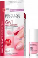 EVELINE - NAIL THERAPY PROFESSIONAL - Colour Nail Conditioner - Odżywka do paznokci nadająca kolor 6w1