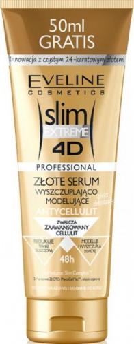 EVELINE - Slim Extreme 4D - Wyszczuplająco-modelujące serum do ciała z dodatkiem złota - 250ml