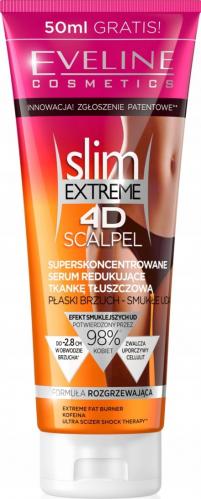 EVELINE - Slim Extreme 4D - Super skoncentrowane serum do ciała redukujące tkankę tłuszczową - 250ml