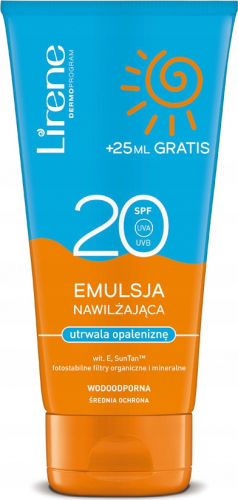 LIRENE - Emulsja nawilżająca SPF20 - Wodoodporna