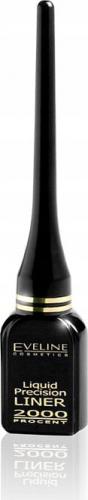 EVELINE - Liquid Precision Eyeliner 2000% - Wodoodporny eyeliner w płynie - BLACK