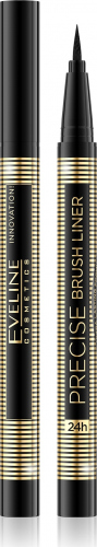EVELINE - PRECISE BRUSH LINER - Eyeliner w pisaku - DEEP BLACK