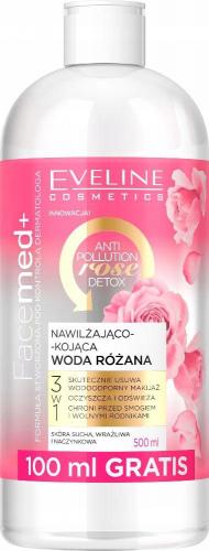 EVELINE - FaceMed + Anti Pollution Rose Detox - Nawilżająco-kojąca woda różana do twarzy