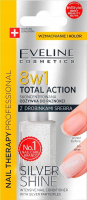 EVELINE - NAIL THERAPY PROFESSIONAL - TOTAL ACTION - SILVER SHINE - Concentrated nail conditioner with silver particles