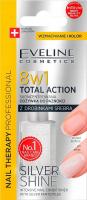 Eveline Cosmetics - NAIL THERAPY PROFESSIONAL - TOTAL ACTION - SILVER SHINE - Skoncentrowana odżywka do paznokci z drobinkami srebra