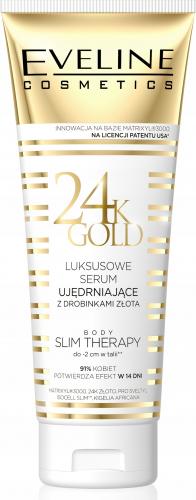 EVELINE - 24K GOLD - BODY SLIM THERAPY - Luksusowe serum ujędrniające do ciała z drobinkami złota - 250 ml