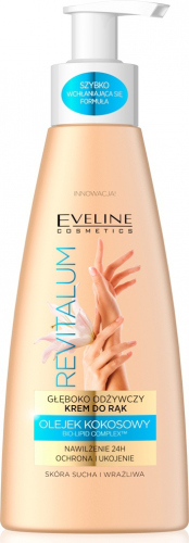EVELINE - REVITALUM - Głęboko odżywczy krem serum do rąk - Skóra sucha i wrażliwa - 125 ml