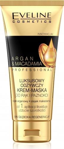 EVELINE - ARGAN & MACADAMIA PROFESSIONAL - Luksusowy krem-maska do rąk i paznokci - Olej arganowy i makadamia - 100 ml