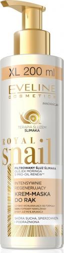 EVELINE - ROYAL SNAIL - Regenerujący krem-maska do rąk ze śluzem ślimaka 200 ml