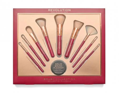 MAKEUP REVOLUTION - BRUSH COLLECTION - Zestaw 9 pędzli do makijażu + mydełko - PINCEAUX
