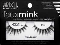 ARDELL - FAUX MINK - Luxuriously Lightweight with invisiband - Artificial strip eyelashes - 814 - 814
