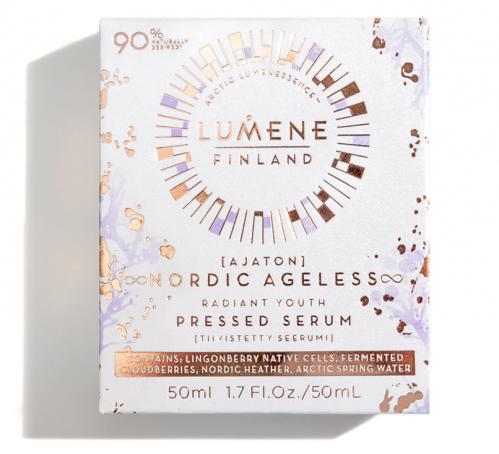 LUMENE - AJATON - NORDIC AGELESS RADIANT YOUTH PRESSED SERUM - Smoothing and rejuvenating face serum - 50 ml