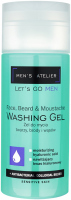 MEN`S ATELIER - Let`s Go Men - Washing Gel - Gel for washing the face, beard and mustache - 150 ml