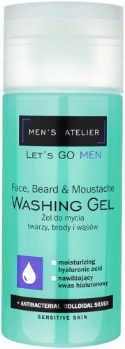 MEN`S ATELIER - Let`s Go Men - Washing Gel - Żel do mycia twarzy, brody i wąsów - 150 ml