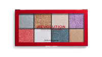 MAKEUP REVOLUTION - PRESSED GLITTER PALETTE - A palette of 8 pressed brocades