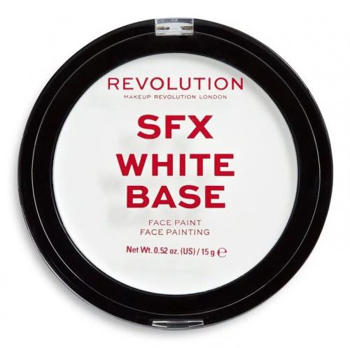MAKEUP REVOLUTION - SFX WHITE BASE - FACE PAINT - Kremowa farba do twarzy