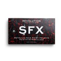 MAKEUP REVOLUTION - SFX METALLIC FACE PAINT PALETTE - Paleta 12 metalicznych farb do twarzy
